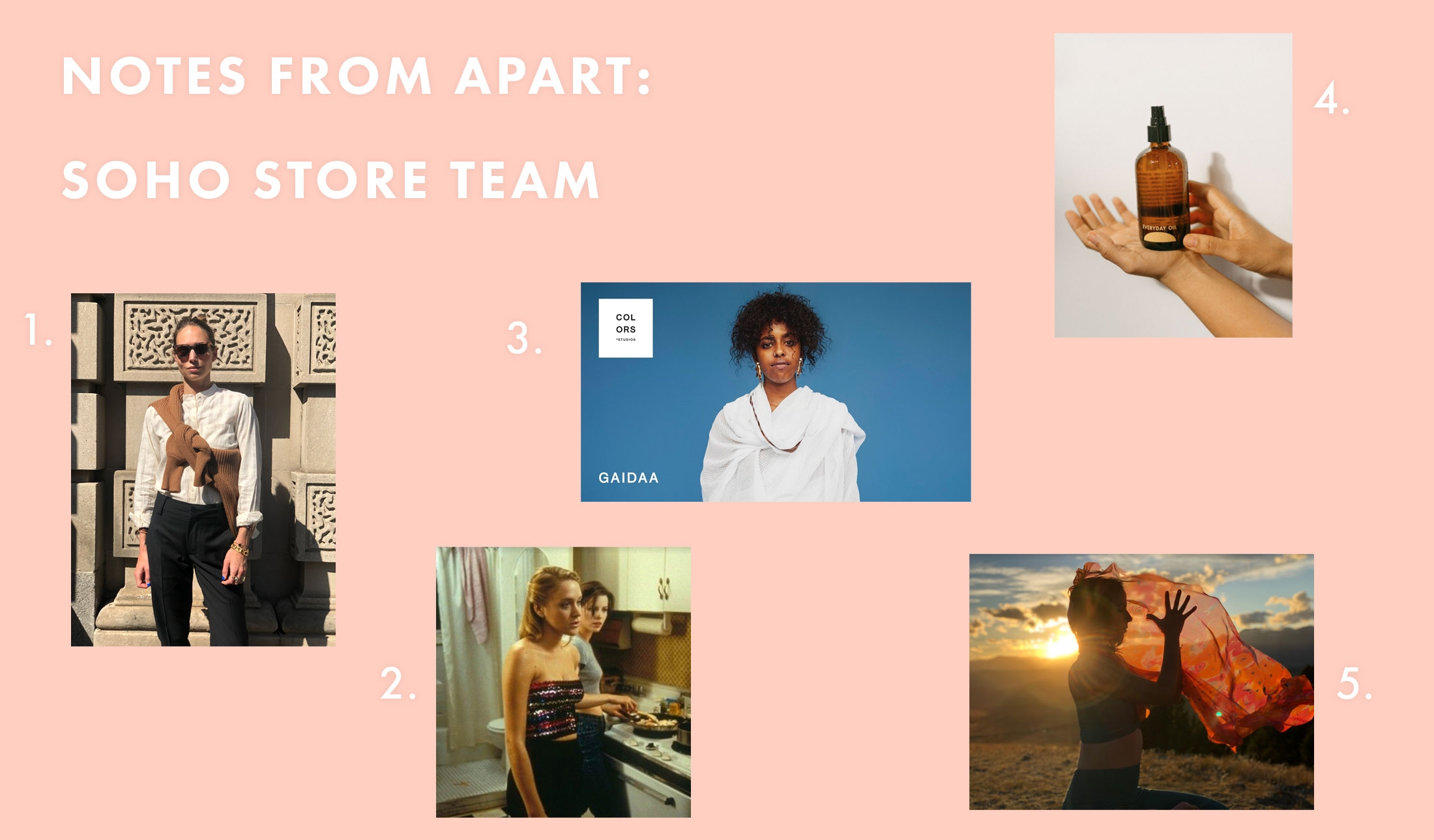 Notes From APART: Soho Store Team